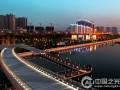 太原市长风商务区汾河夜景景观照明