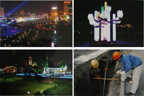 南通市濠河广场绿地照明工程 (1)