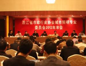 浙江省市政行业协会城市照明专业委员会2012年年会暨第四届路灯职工比武活动在建德举行